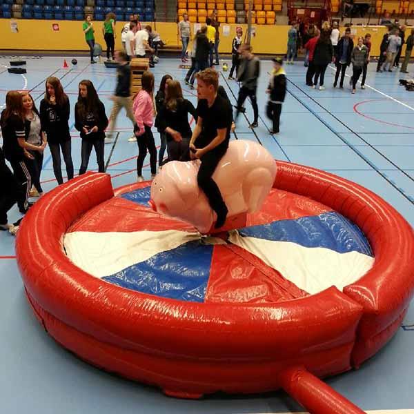 Man kan hyra en mekanisk gris istället för att hyra en mekanisk tjur
