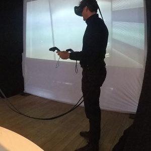 Virtual Reality, VR, Eric kör vid kickoff för fastighetsbolag