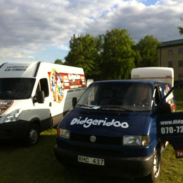 Didgeevents första bilar. VW och IVeco