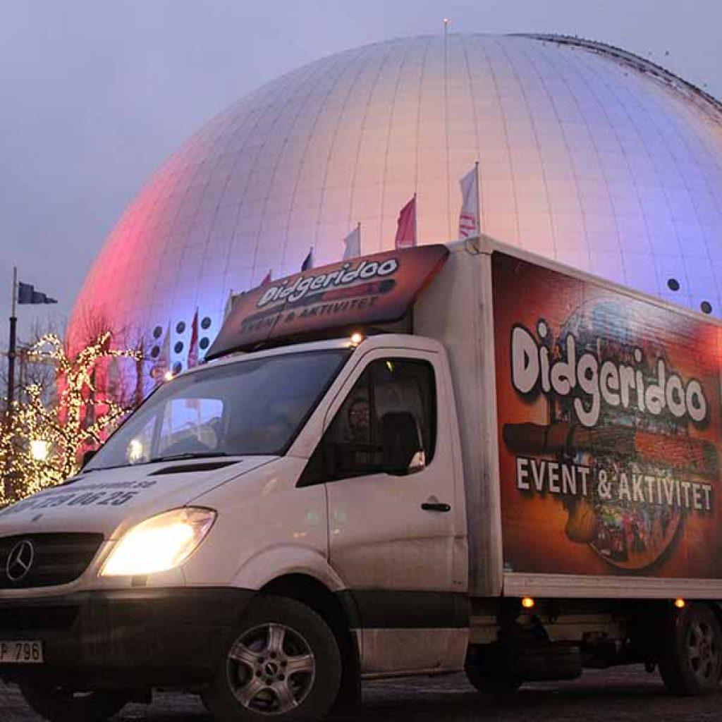 Didgeridoo event och aktivitet levererar till Globen i stockholm