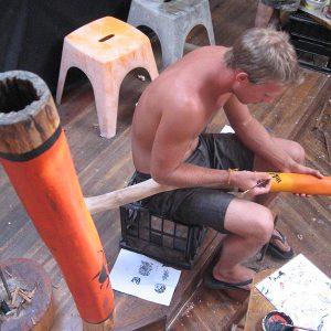 Rapp målar didge