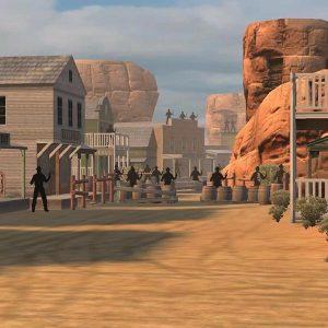 Arcade western skyttesimulator