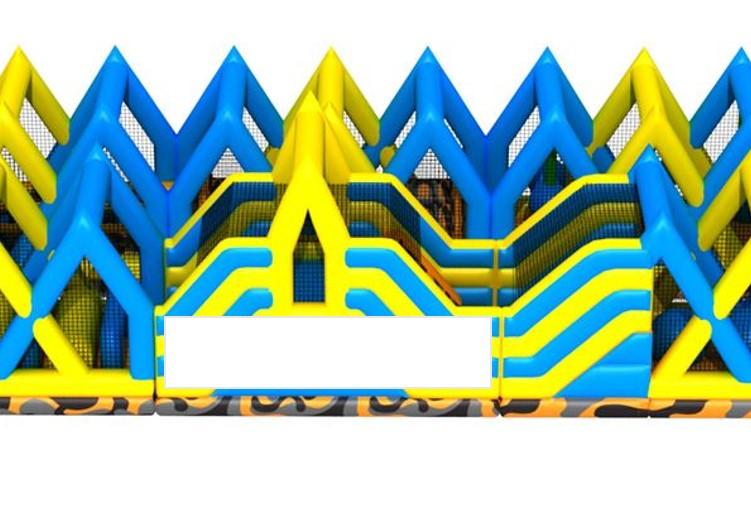 Hinderbana uppblåsbar till Stadium Sports camp med möjlighet att sätta dekal på sidan