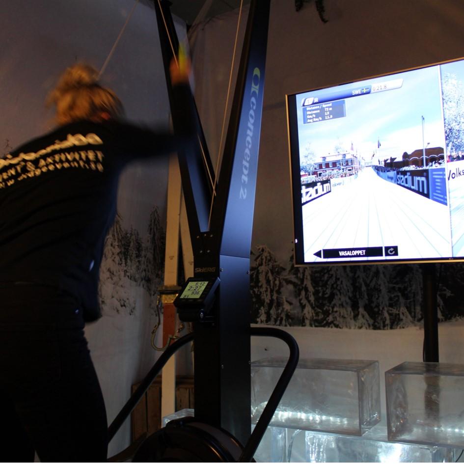 Längdskidåkning simulator